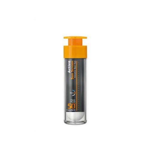 Frezyderm Active Sun Screen Face Fluid SPF 50+, Αντηλιακό Προσώπου με Λεπτόρρευστη Υφή SPF 50, 50ml