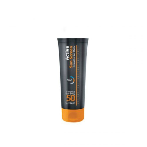 Frezyderm Active Sun Screen Sensitive Face-Body SPF 50, Αντηλιακό για Πρόσωπο&Σώμα SPF 50, 150ml